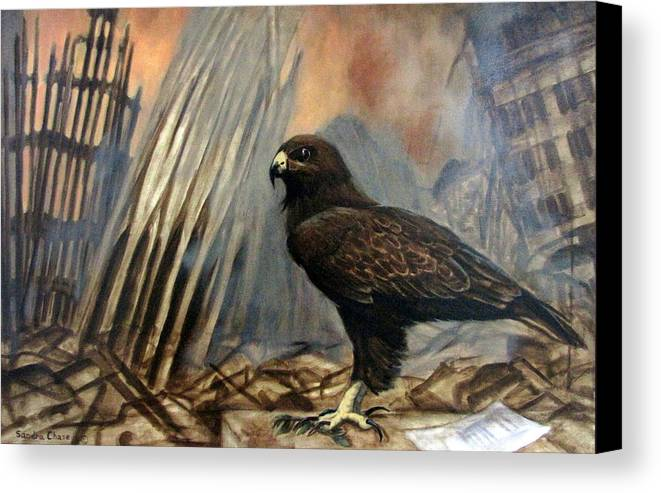 War Canvas Print featuring the painting Either Peace Or War by Sandra Chase
