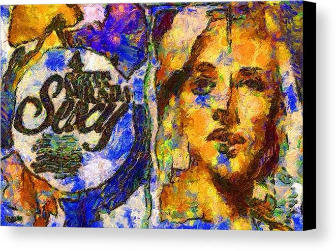 Impressionist Fashion Painting Canvas Print featuring the painting Fashion 342 by Jacques Silberstein