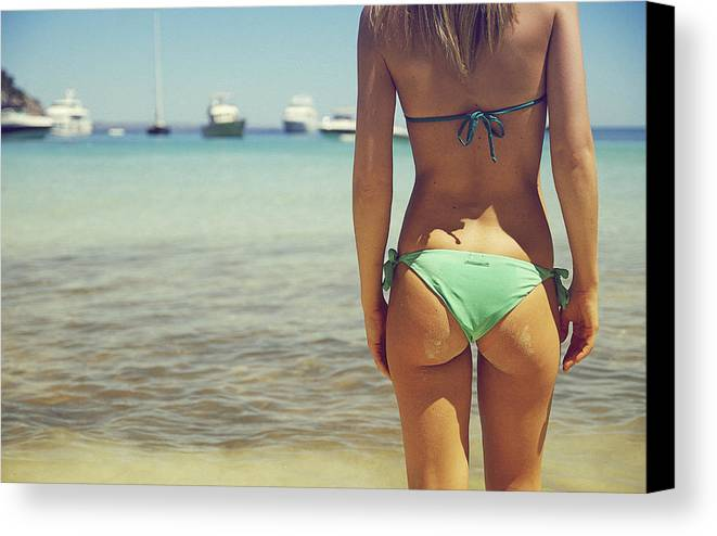 Woman Canvas Print featuring the photograph Hungarian Girl In Mallorca by Andy Quarius