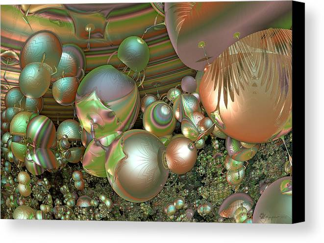 Abstract Canvas Print featuring the digital art Immune Response by Peggi Wolfe