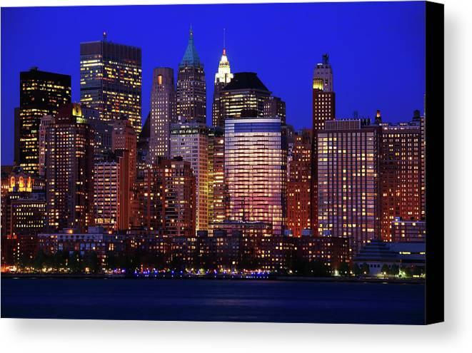 Manhattan Canvas Print featuring the photograph Lower Manhattan by Rick Berk