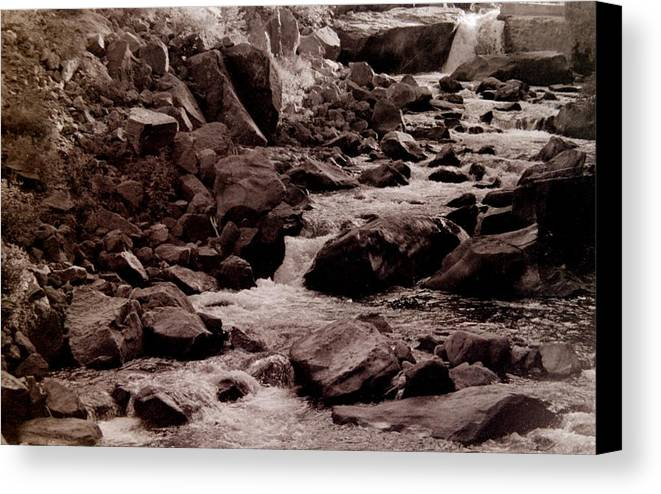 River Canvas Print featuring the photograph River Flows by T Campbell