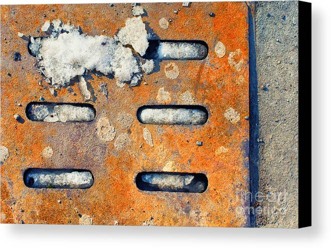 Snow Canvas Print featuring the photograph Snow On Ground by Silvia Ganora