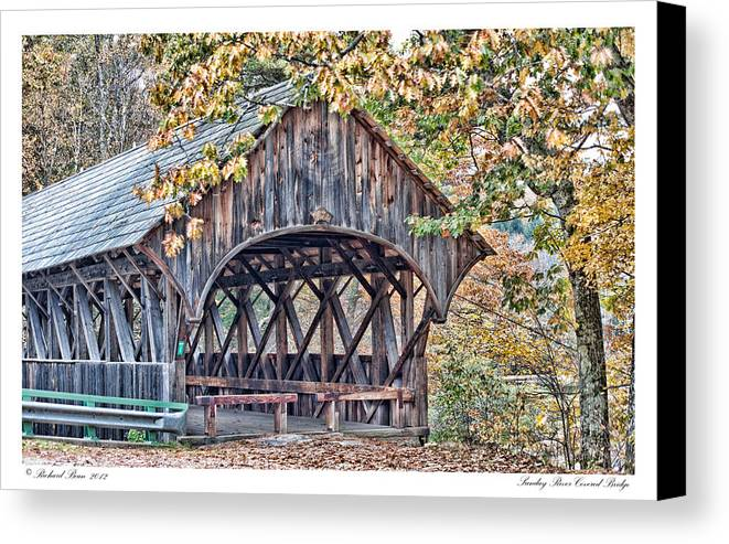 Covered Canvas Print featuring the photograph Sunday River Covered Bridge by Richard Bean