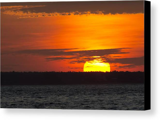 Top-end Canvas Print featuring the photograph Top-end Australian Sunset V2 by Douglas Barnard