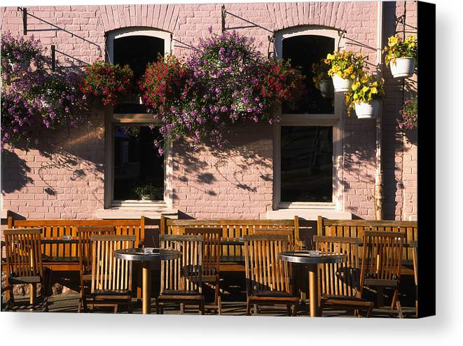 Quebec Canvas Print featuring the photograph Pink Hotel Quebec City by Art Ferrier
