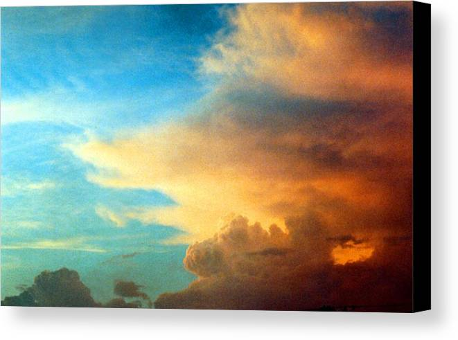 Cloud Canvas Print featuring the photograph 072006-14e by Mike Davis