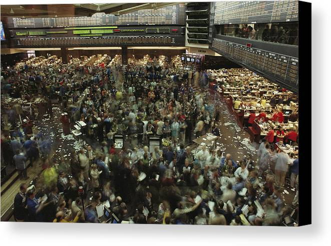 North America Canvas Print featuring the photograph An Elevated View Of Traders by Michael S. Lewis