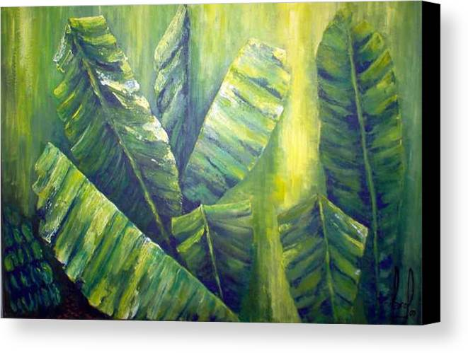 Bananas Canvas Print featuring the painting Bananas by Carol P Kingsley