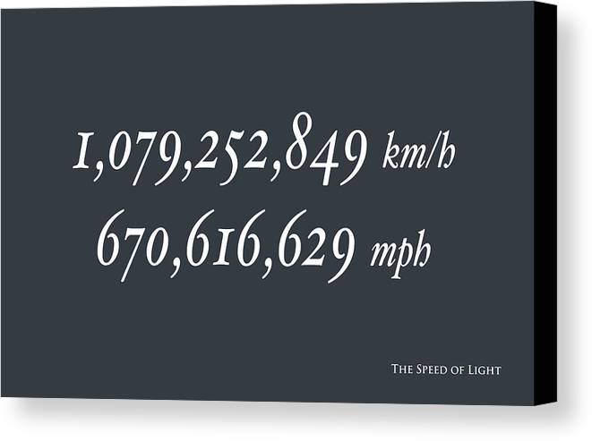 Speed Of Light Canvas Print featuring the digital art The Speed Of Light by Michael Tompsett