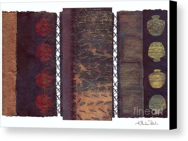 3panel Canvas Print featuring the painting Three Panel Transitional Page Format by Kerryn Madsen- Pietsch