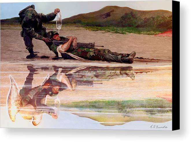 Military Art Canvas Print featuring the photograph Wings Of Hope by Todd Krasovetz