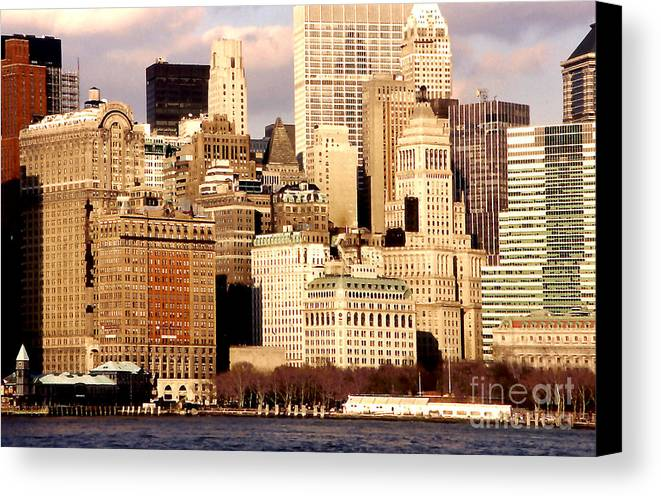 Architecture Canvas Print featuring the photograph The Battery- New York City by Linda Parker