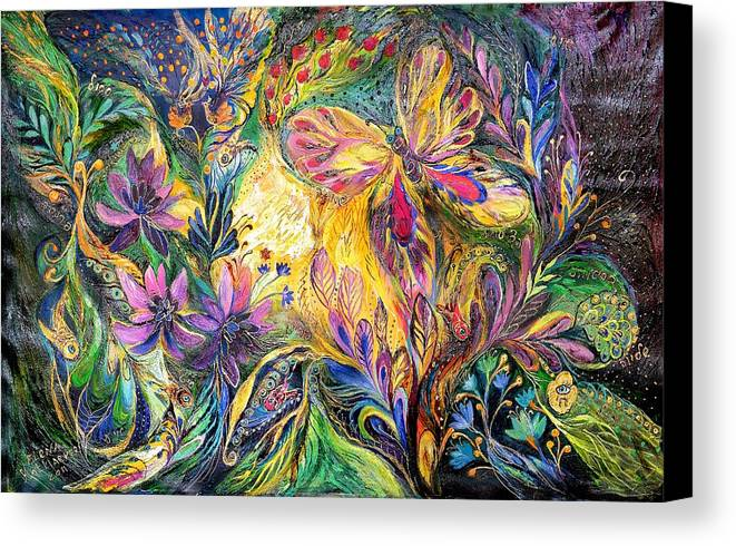 Original Canvas Print featuring the painting The Life Of Butterfly by Elena Kotliarker