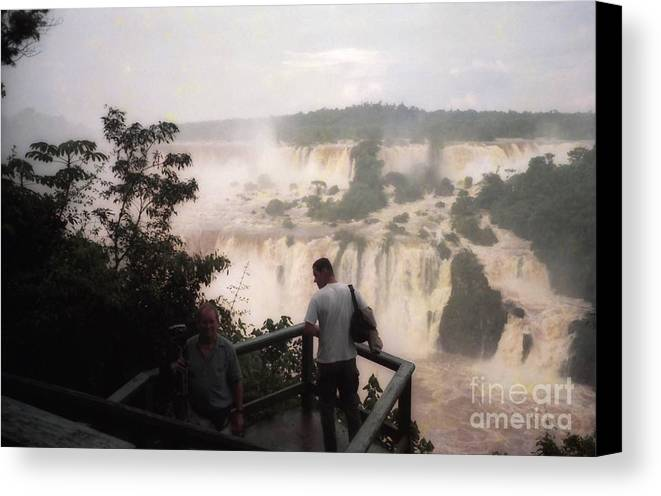 View Canvas Print featuring the photograph Iguazu Falls by Ted Pollard