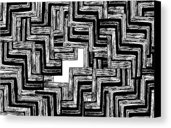 Abstract Canvas Print featuring the digital art Digital Landscape 3 by Heather Brown