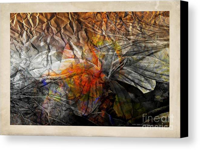 Abstraction Canvas Print featuring the digital art Abstraction 3417 by Marek Lutek