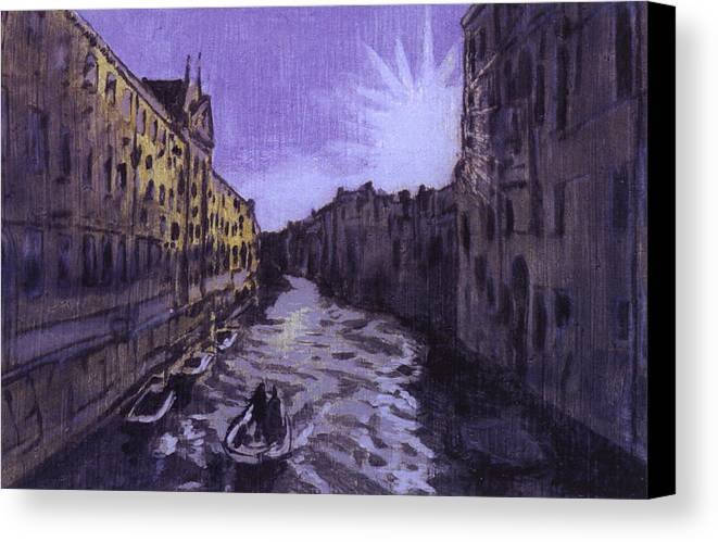 Landscape Canvas Print featuring the painting After Rio Dei Mendicanti Looking South by Hyper - Canaletto
