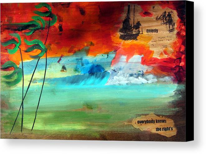 Landscape Canvas Print featuring the painting Andaman Islands by Nathan Paul Gibbs