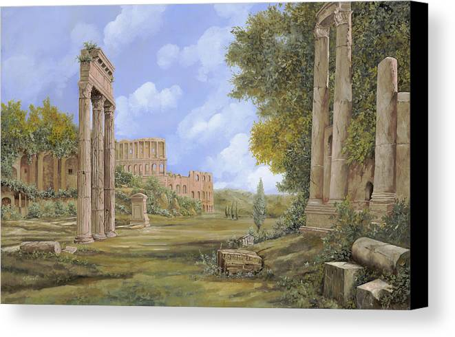Landscapes Canvas Print featuring the painting Anfiteatro Romano by Guido Borelli