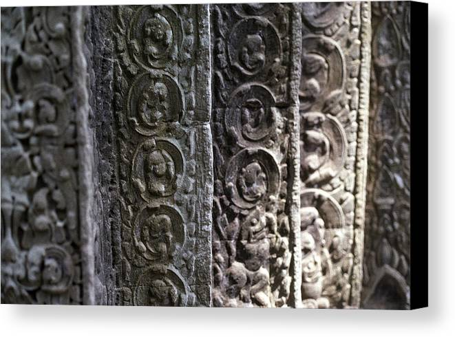 Angkor Canvas Print featuring the photograph Angkor Layers by Marcus Best