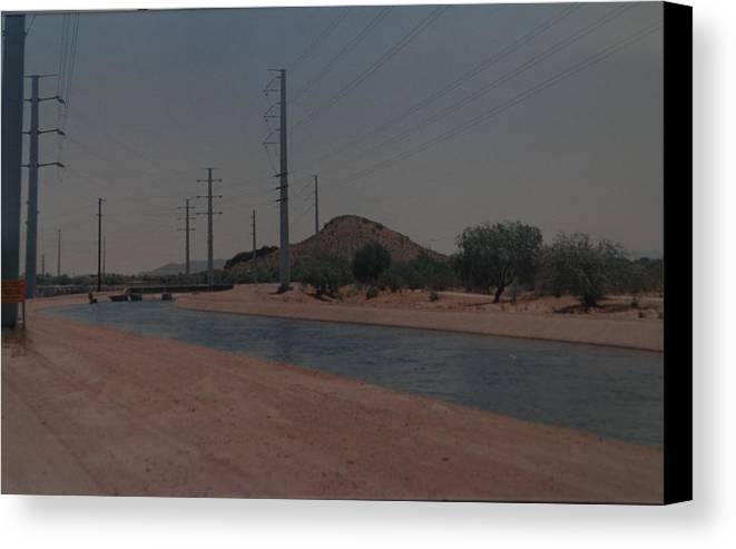 Arizona Canvas Print featuring the photograph Arizona Waterway by Rob Hans