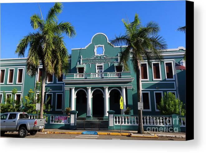 Art Deco Jose Julian Acosta School In Old San Juan Canvas Print ...