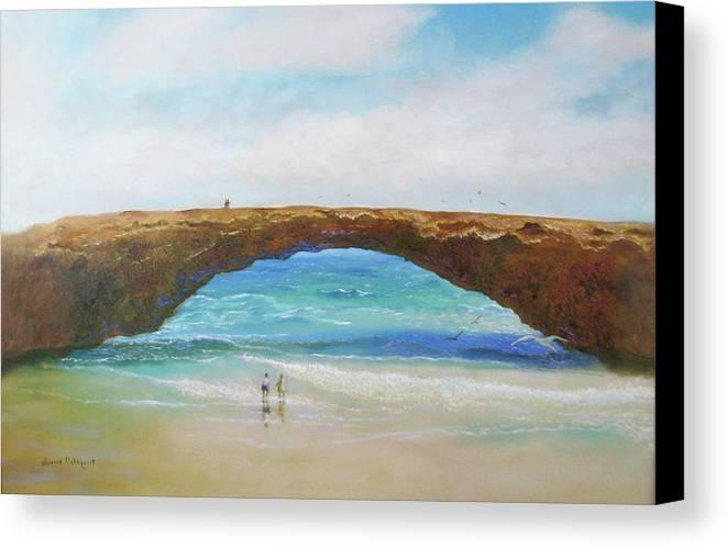 Bridge Canvas Print featuring the painting Aruba by Jeanine Dahlquist