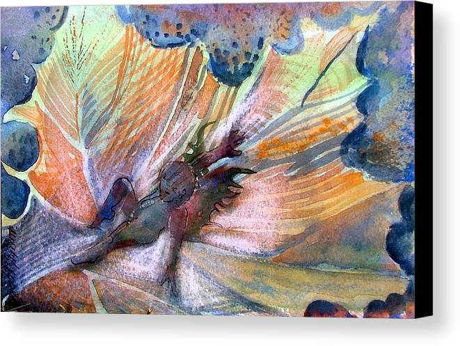Fairy Canvas Print featuring the painting Autumn Fairy by Mindy Newman