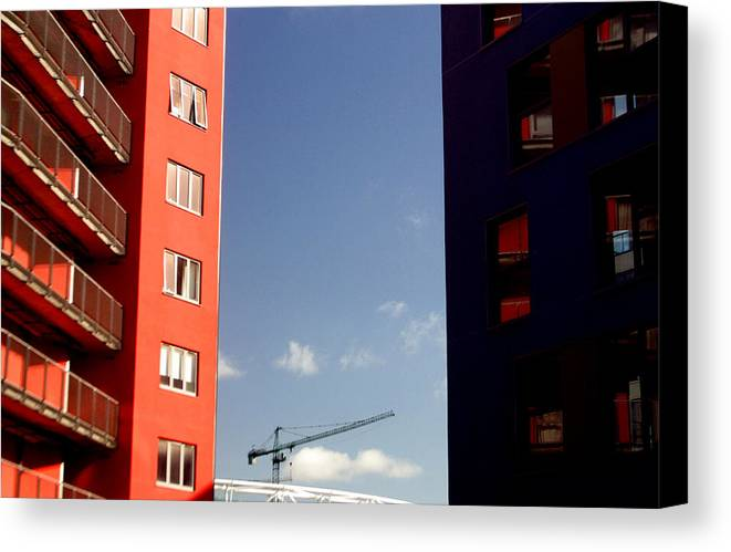 Jez C Self Canvas Print featuring the photograph Between The Walls by Jez C Self
