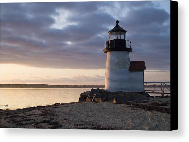 Nantucket Canvas Print featuring the photograph Brant Point Light Number 1 Nantucket by Henry Krauzyk