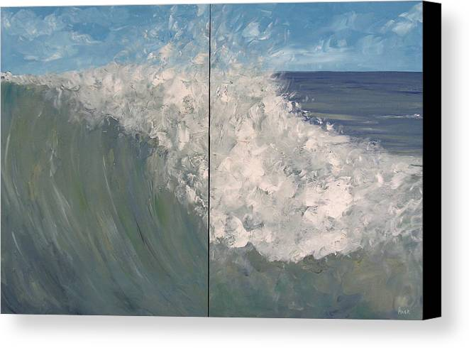 Ocean Canvas Print featuring the painting Breaker Ll by Pete Maier