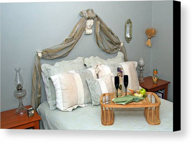 Breakfast In Bed Canvas Print featuring the photograph Breakfast Is Served With Style by Amelia Painter