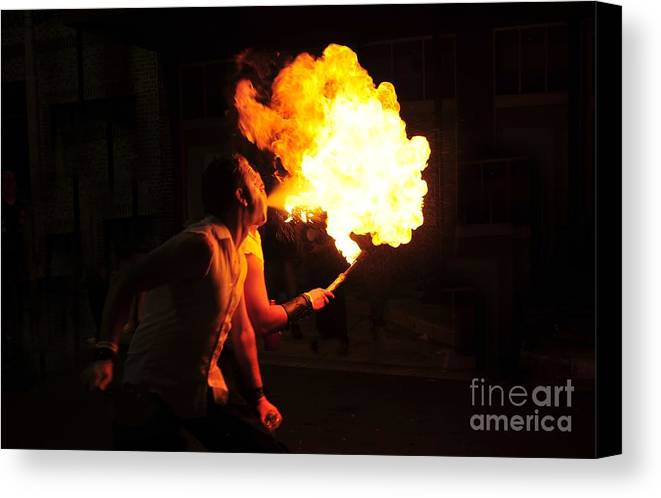 Fire Canvas Print featuring the photograph Breath Of Fire by David Lee Thompson