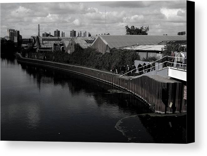 Jez C Self Canvas Print featuring the photograph Canal Walk Not On Your Own by Jez C Self