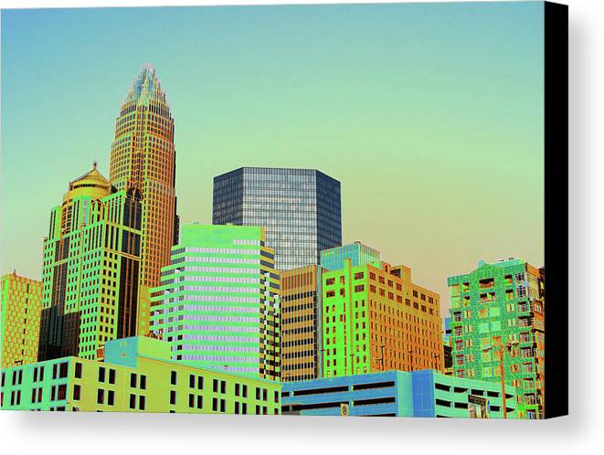 Charlotte Canvas Print featuring the photograph City Of Colors by Karol Livote