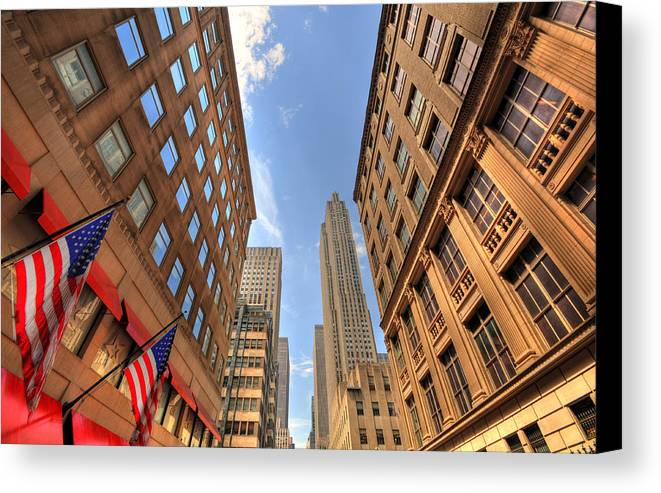 City Streets Canvas Print featuring the photograph City Streets by Kelly Wade