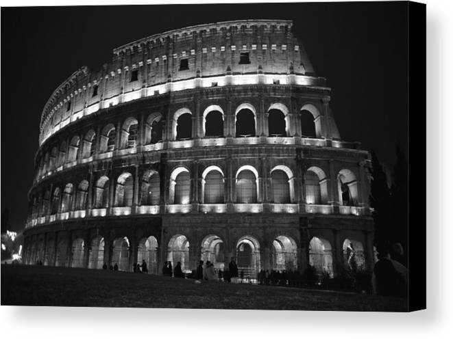 Italy Canvas Print featuring the photograph Colosseum by Kathy Schumann