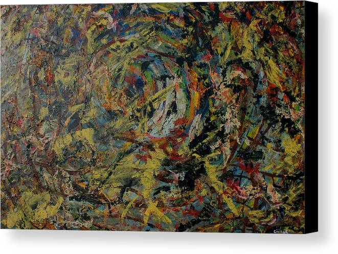 Canvas Print featuring the painting Cosmic Wars by Biagio Civale