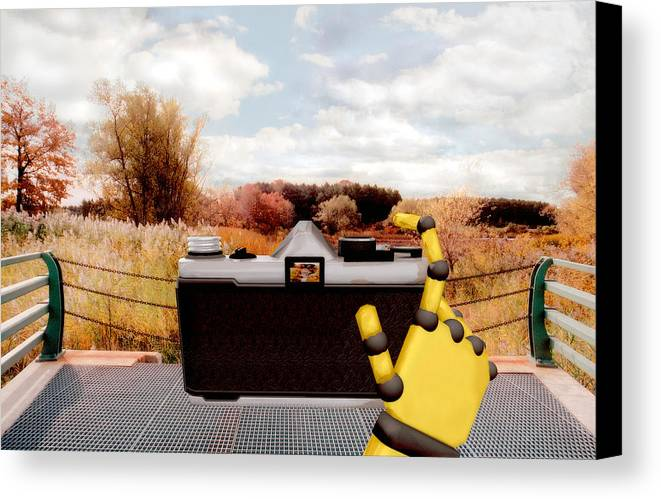 Camera Canvas Print featuring the painting Digital Photographer by Peter J Sucy