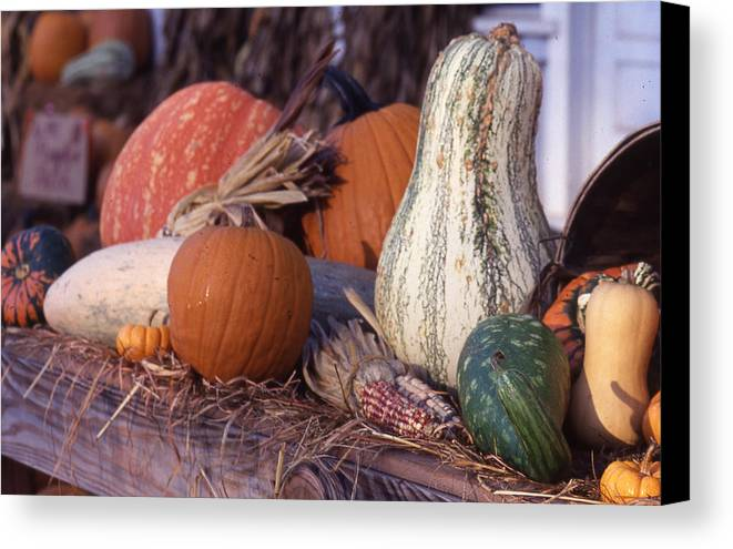 Canvas Print featuring the photograph Fall-roadside-produce by Curtis J Neeley Jr