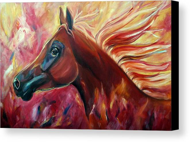 Horse Canvas Print featuring the painting Firestalker by Stephanie Allison