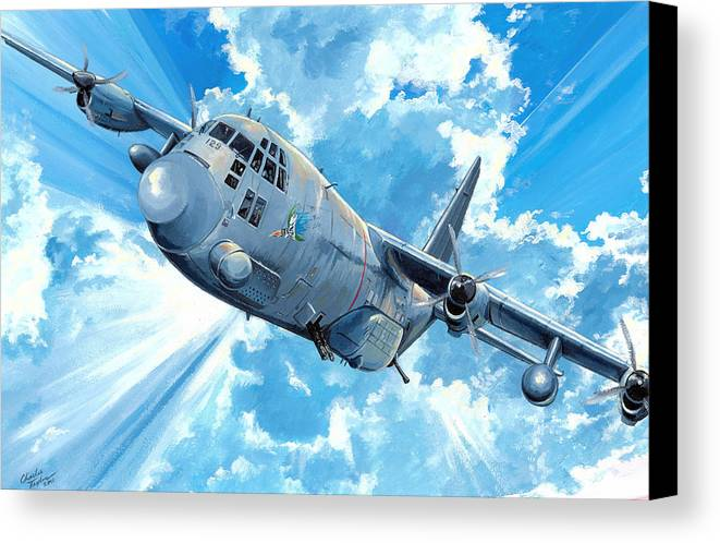 Air Force Canvas Print featuring the painting First Lady by Charles Taylor