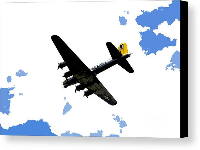B 17 Canvas Print featuring the photograph Flying For Home by David Lee Thompson