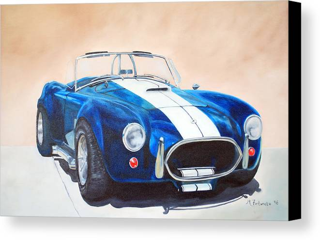 Car Canvas Print featuring the painting Ford Cobra In Oil by Margaret Fortunato