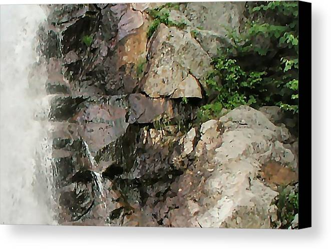 Waterfall Canvas Print featuring the photograph Glen Falls Abstract by Dave Martsolf