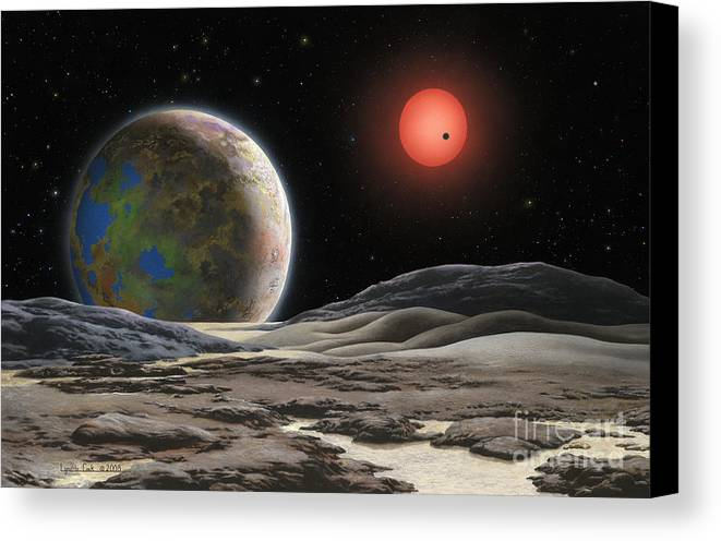 Lynette Cook Canvas Print featuring the painting Gliese 581 C by Lynette Cook