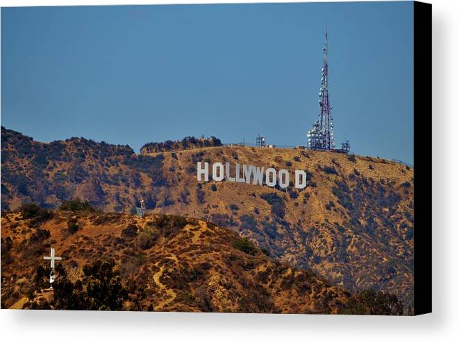 Sign Canvas Print featuring the photograph Hollywood by Eileen Brymer