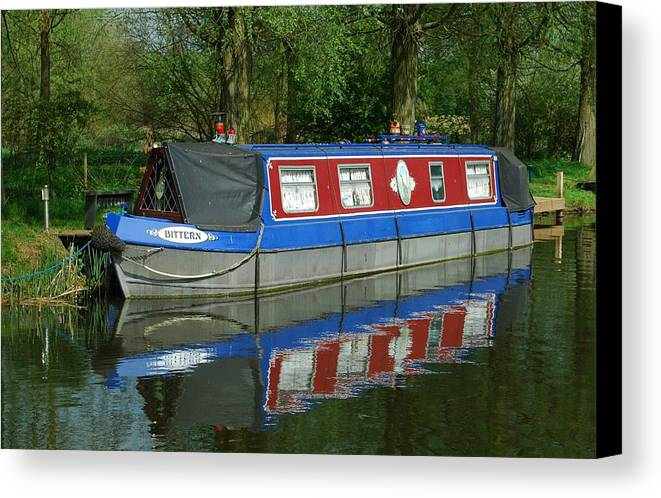 Houseboat Canvas Print featuring the photograph Houseboat by Terence Davis