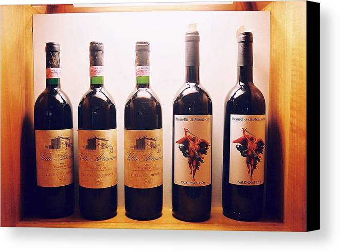 Wine Canvas Print featuring the photograph Italian Wines by Kathy Schumann